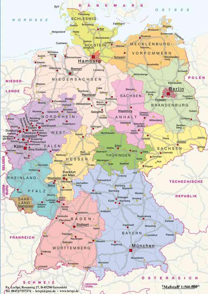 Deutschland Politisch Lernteppich Lerspi De